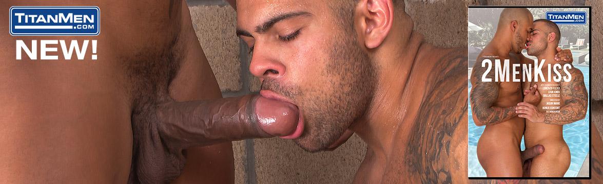 2 Men Kiss DVD image.